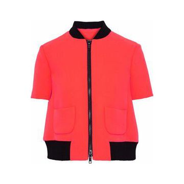 Redvalentino Ribbed Knit-trimmed Neoprene Jacket