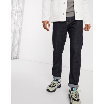 Nudie Jeans Steady Eddie II regular tapered fit jeans in rinsed-Blue