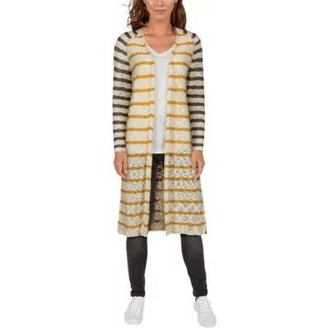 Natural Reflections Open-Front Long-Sleeve Cardigan for Ladies
