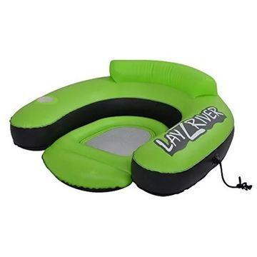 Blue Wave Lay-Z-River Inflatable Lounge River Float, Neon Green
