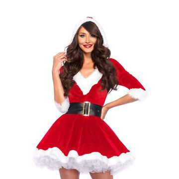 Leg Avenue Womens 2 Piece Mrs. Claus Costume Red/WhiteMedium/Large