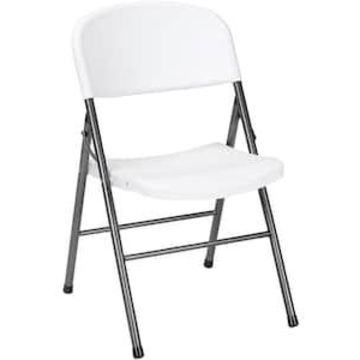 Cosco Resin Banquet/Reception Chairs, White Speckle/Pewter, 4/Box (14867WSP4) | Quill