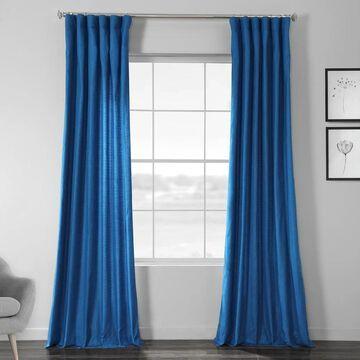 Exclusive Fabrics Faux Dupioni Shantung Silk Curtain