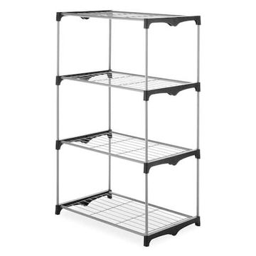 Whitmor 4 Tier Closet Shelves, Black