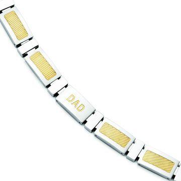 Chisel Stainless Steel 8.75-inch Bracelet