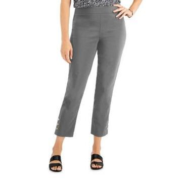 Jm Collection Petite Button-Hem Pull-On Pants, Created for Macy's