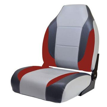 Wise 8WD717-841 Premium High Back Seat, Charcoal/Red/Grey