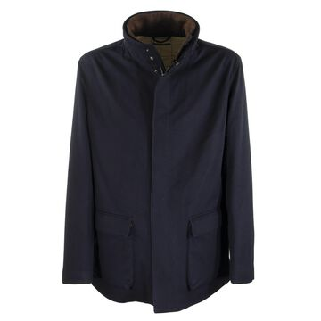 Loro Piana Winter Voyager Jacket Cashmere Storm System Midnight Blue