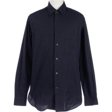 Yohji Yamamoto Navy Cotton Shirts
