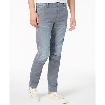 G-Star Mens Jeans Blue Size 31X30 Moto Stripe Print Slim Fit Stretch