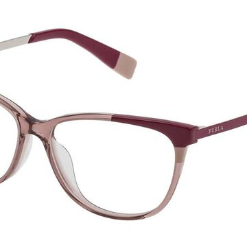 Furla VFU133 0830 Womenas Glasses Brown Size 53 - Free Lenses - HSA/FSA Insurance - Blue Light Block Available