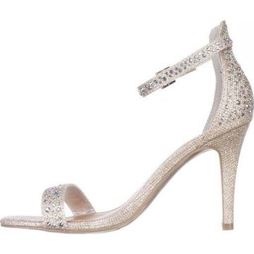 Material Girl Womens Blaire1 Open Toe Special Occasion Ankle