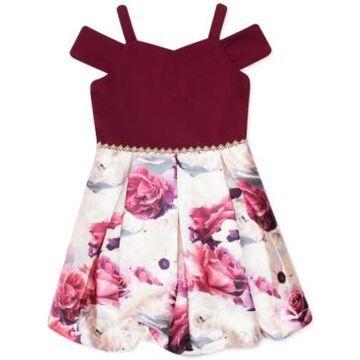 Speechless Toddler Girls Cold-Shoulder Bubble Dress