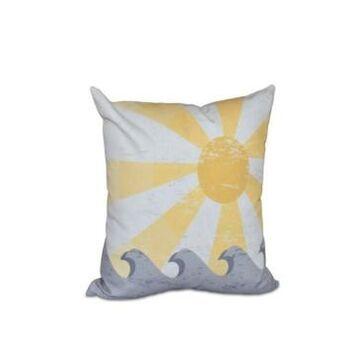 Sunbeams 16 Inch Yellow Decorative Nautical Throw Pillow