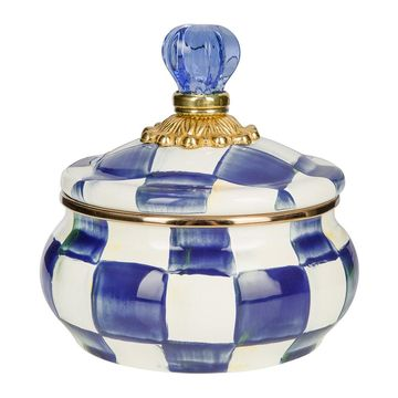 MacKenzie-Childs - Royal Check Squashed Pot