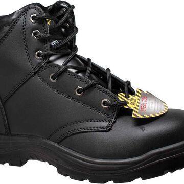 """AdTec Men's 6"""" Leather Steel Toe Work Boots"""