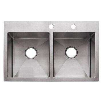 Franke HF3322-2 Double Bowl Sink Dual Mount, 9