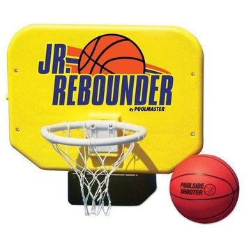 Poolmaster Junior Pro Rebounder Poolside Basketball Net System Game with Ball