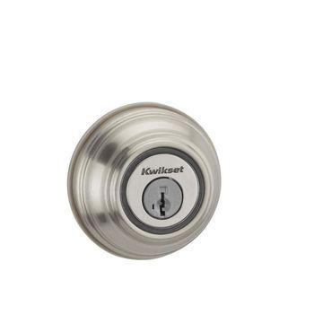 Kwikset Kevo Satin Nickel Single-Cylinder Deadbolt 1-Cylinder Smartkey No Keypad
