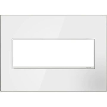 Legrand adorne 3-Gang Mirror White On White Square Screwless Specialty Wall Plate | AWM3GMWW4