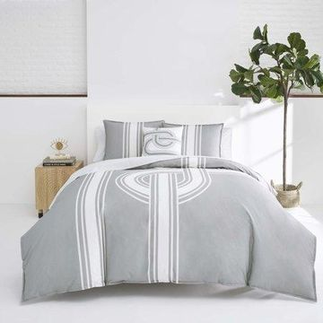 Jonathan Adler Philippe Grey Comforter Set, King