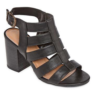 Bamboo Womens Taste 27 Heeled Sandals