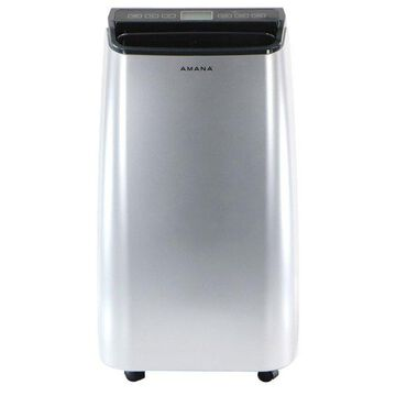 Portable Air Conditioner With Remote Control, Silver/Gray, Up To 250 Sq. Ft.
