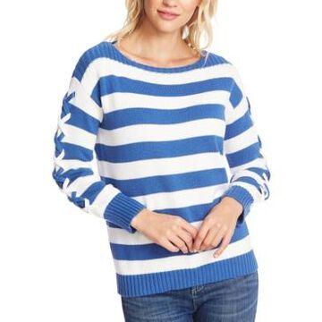 CeCe Striped Boat-Neck Sweater