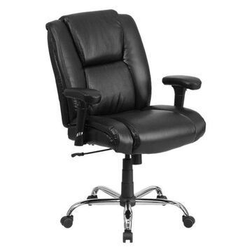 Offex Black Leather Swivel Task Chair