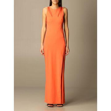 Patrizia Pepe long dress in technical fabric