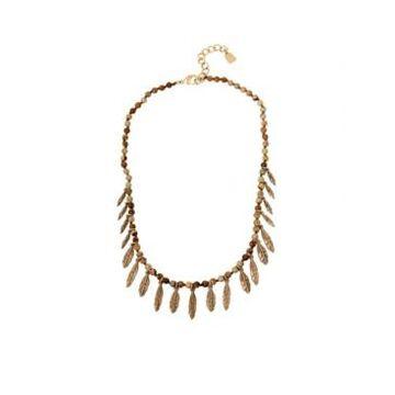 Robert Lee Morris Soho Women's Shaky Leaf Jasper Necklace