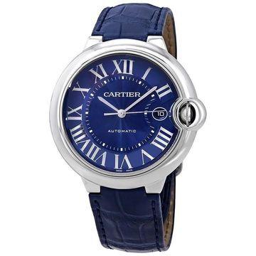 Cartier Men's WSBB0025 'Ballon Bleu' Blue Leather Watch