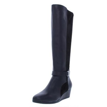 Giani Bernini Womens Cathrin Leather Padded Insole Over-The-Knee Boots