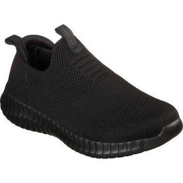 Skechers Boys' Elite Flex Wasick Slip-On Sneaker Black/Black