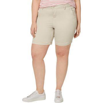 Celebrity Pink Womens Stretch Low-Rise Bermuda Shorts