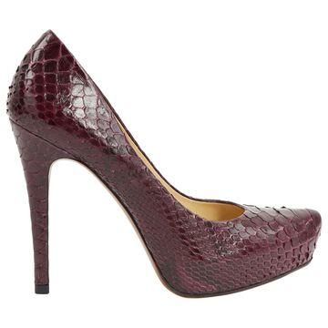 Alexandre Birman Purple Python Heels