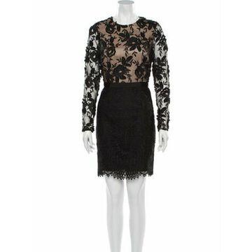 Lace Pattern Mini Dress w/ Tags Black