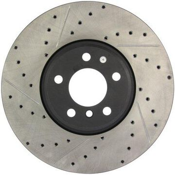 StopTech 127.34060R StopTech Sport Rotor; Drilled And Slotted; Front Right;