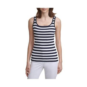 Karl Lagerfeld Paris Stripe Sweater Tank Top