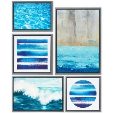 Madison Park Water Tide 5-Pc. Gallery Wall Art Set