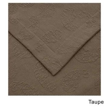 Superior Jacquard Matelasse Paisley Cotton Bedspread Set (Taupe - Full)