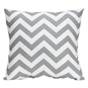 Swizzle Pillow, Gray Chevron