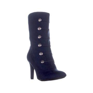Rialto Womens Chung Fabric Pointed Toe Mid-Calf Fashion Boots
