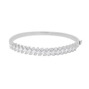 Simply Vera Vera Wang Sterling Silver Lab-Created White Sapphire Bangle Bracelet