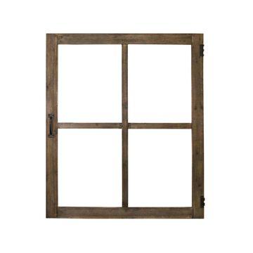 Stratton Home Decor Wood Windowpane Wall Decor
