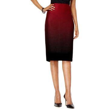 ECI Womens Polka Dot Print Ombre Bandage Skirt