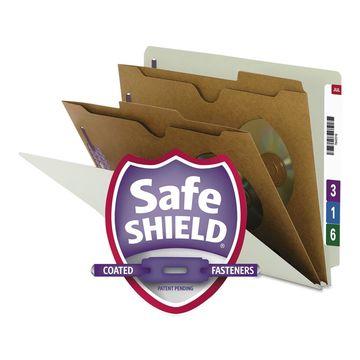 Smead Pressboard End Tab Classification Folder Pockets Letter Six-Section 10/Box
