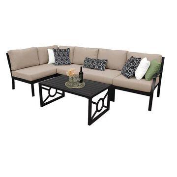 kathy ireland Madison Ave. 6 Piece Aluminum Patio Furniture Set 06q, T