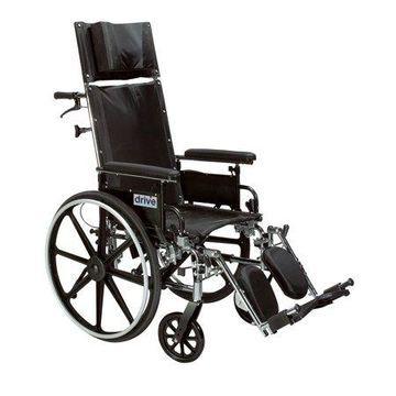 Drive Medical Viper Plus GT Full Reclining Wheelchair, Detachable Desk Arms, 20