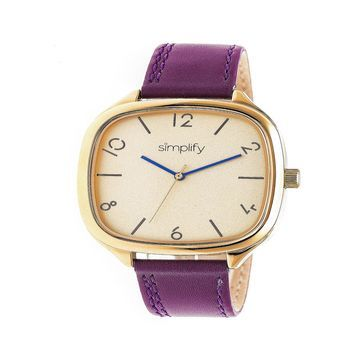 Simplify Unisex Purple Strap Watch-Sim3507